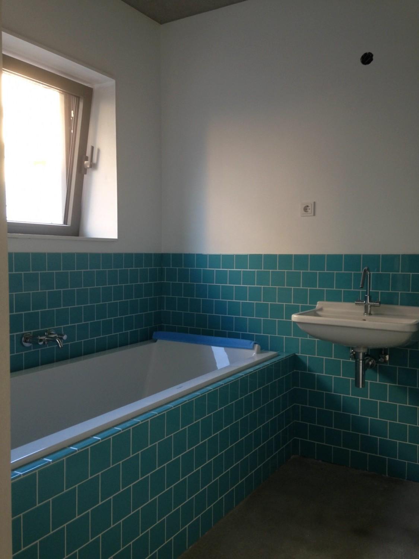 tegels zelfbouw badkamer architectuur