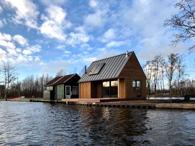 bio based zomerhuis hout zelfvoorzienend detail felsplaat loosdrecht