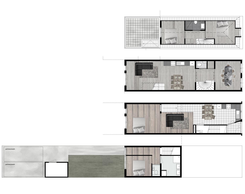 plattegrond winkel woonhuis Schiedam hoogstraat transformative herbestemming architect wonen in winkels, werk aan de winkel, rotterdam