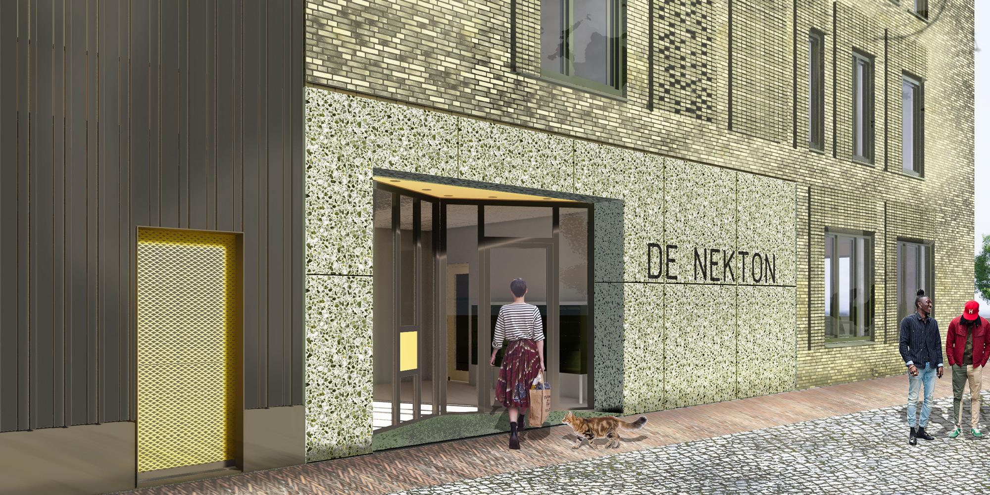 entrance_concrete_terrazzo_architect_green-brick_baksteen_2