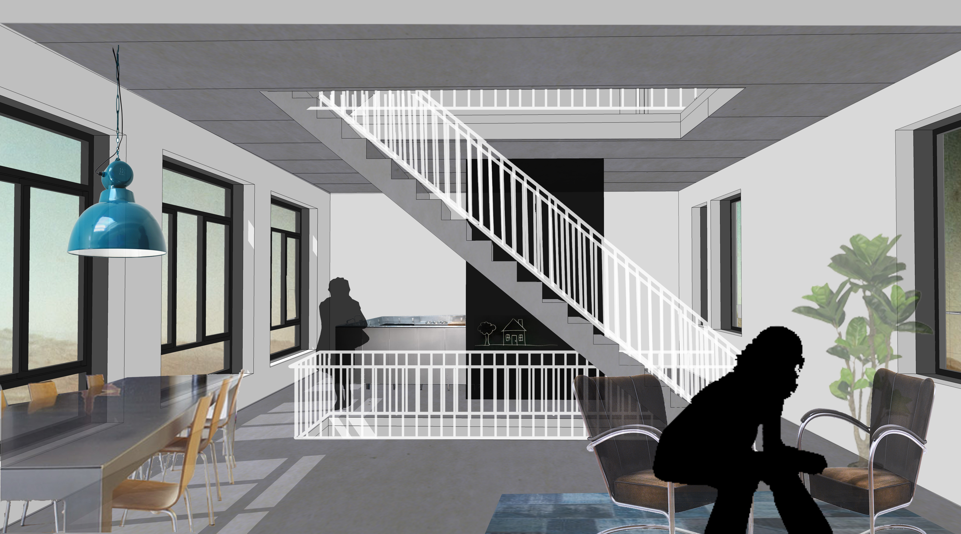 interieur modern woonhuis nieuwbouw architect
